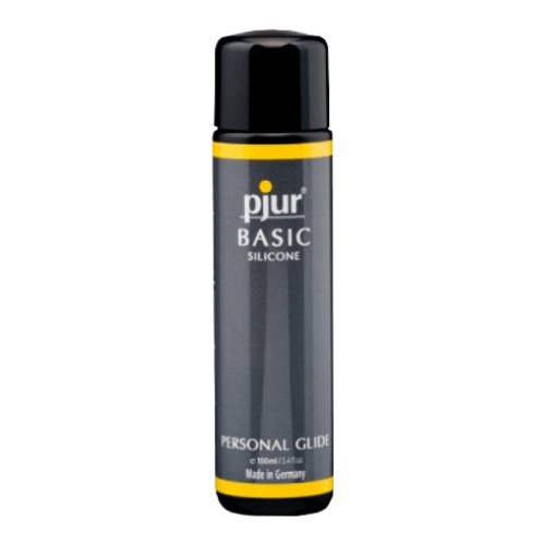pjur Basic Silicone Lubricant - 100ml - Made in Germany -  Condom Compatible - No Flavour - No Oil