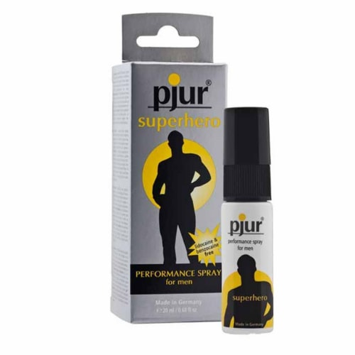 Pjur: Superhero performance spray for men - 20 ml - 20 to 30 minutes extra performance