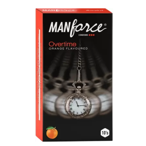 Manforce staylong orange flavour - Extra dotted condom 10s pack