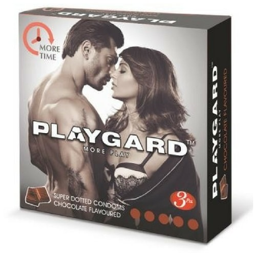 Playgard More Time- Chocolate Flavored - Super Dotted Condoms 3
