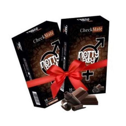 NottyBoy Checkmate - Chocolate Flavour Condom 2 X 10