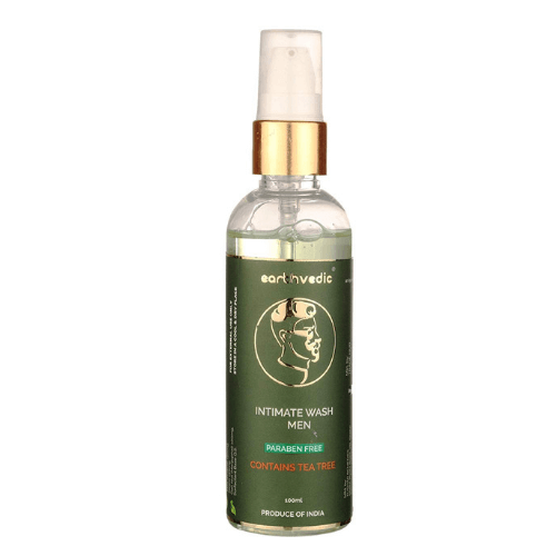 Earthvedic Intimate Wash Men with Tea Tree Extract - Paraben Free - 100ml