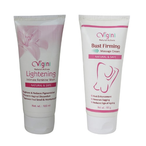 Bust Firming Massage Cream and Lightening Intimate Feminine Wash