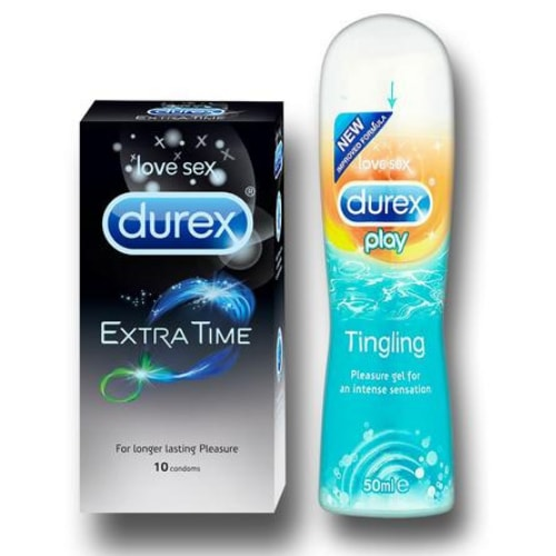 Durex Extra Time and Tingle Cooling Lube 50ml Combo Pack