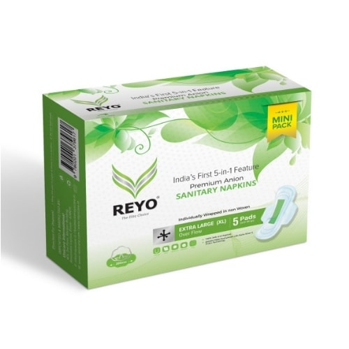 REYO Mini Pack - Extra Large - 5 Anion Pads - 290mm for Over Flow