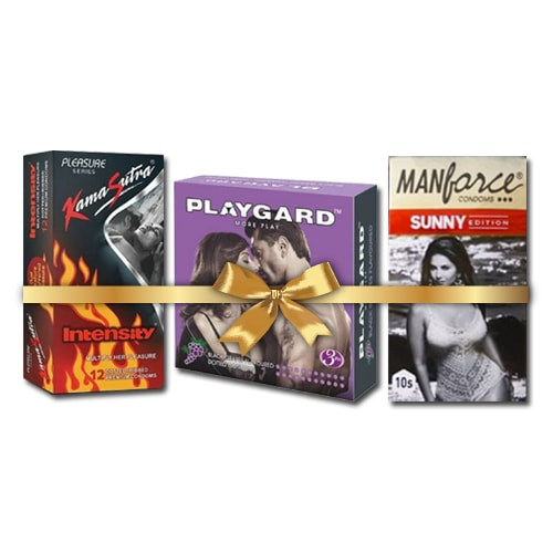 Playgard super dotted and Kamasutra intensity condoms
