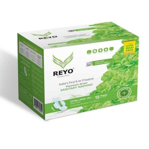 REYO Super Maxi Pack - Extra Large - 15 Anion Pads - 290mm for Over Flow