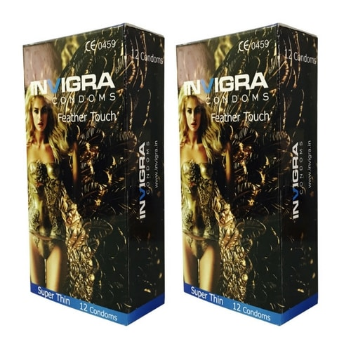 Invigra Feather Touch Condoms pack of 12