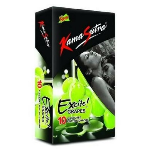 KamaSutra Grapes Flavoured Dotted Condoms - 10