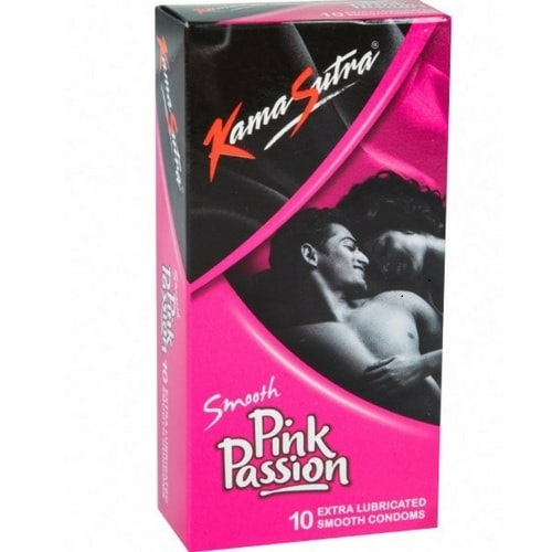 KamaSutra Smooth Pink Passion Condoms Pack of 10 Pcs