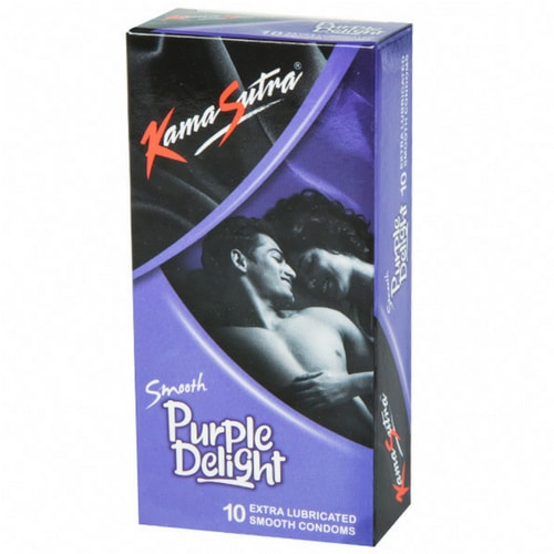 KamaSutra Smooth Purple Delight Condoms Pack of 10 Pcs