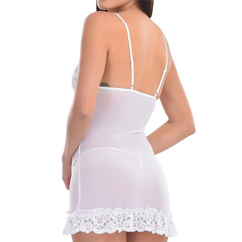 White Transparent Babydoll Nightwear