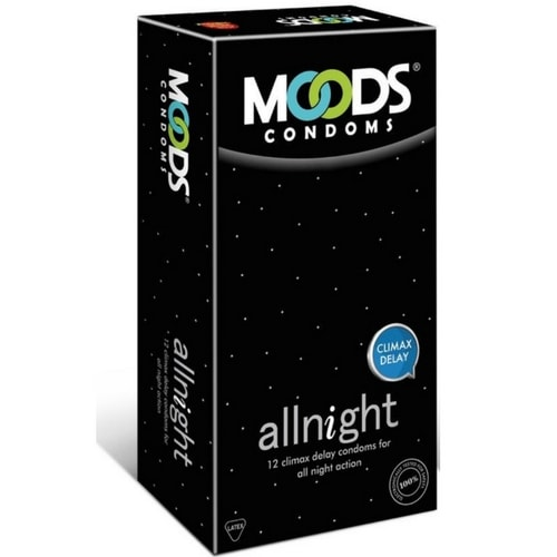 Moods All Night Climax Delay Condoms - 12s (Pack of 4)