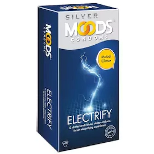 Moods silver electrify condom pack of 12 condoms