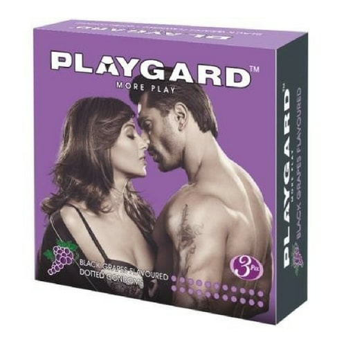 Playgard Black Grapes Flavored - Dotted Condoms - 3
