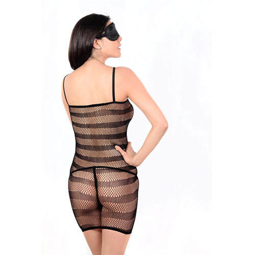 Black Fishnet Babydoll