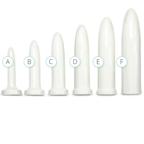 Vaginismus Vaginal Dilator Set - Pack of 6 Different Sizes