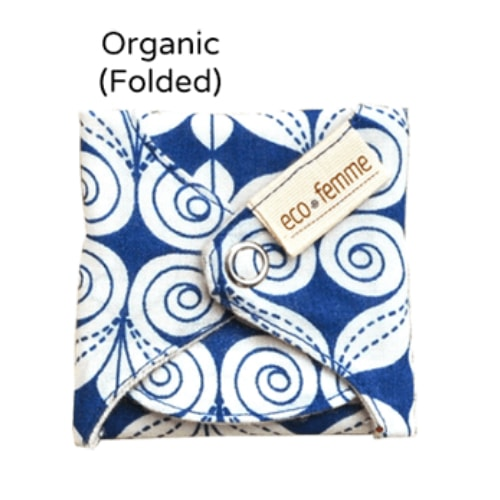 Eco-Femme Organic Reusable Panty liners with PUL - 5 Cotton Layers pack of 3