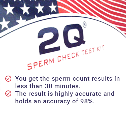 2Q sperm check test kit - Made in America - 99.9% accurate results