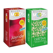 Moods silver 1500dots and joyride combo condoms